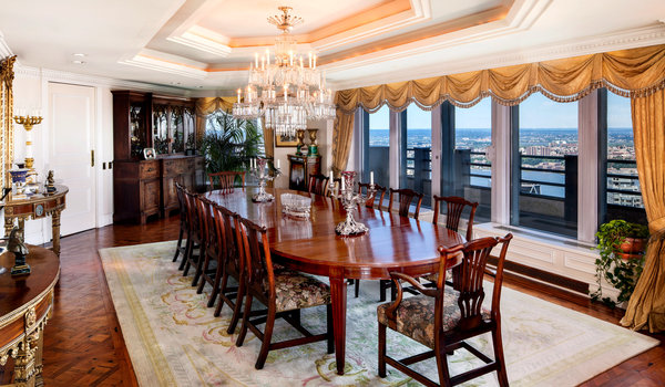 $100 Million CitySpire penthouse dining room