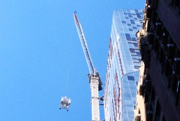 One57 Crane Descending