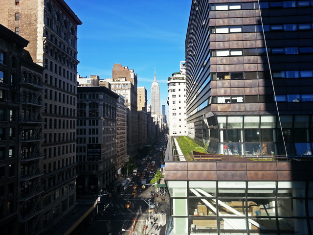 View from the roof of 61 Fifth Avenue