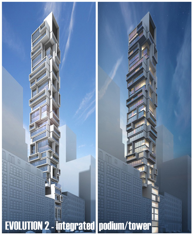 Old rendering of 92 Fulton