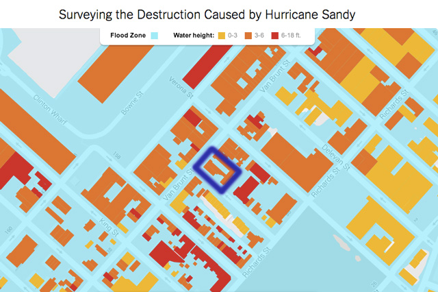 NY Times Flood Map, 265 Van Brunt Street