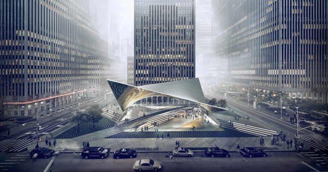 Gensler's Visions for 1221 Avenue of the Americas