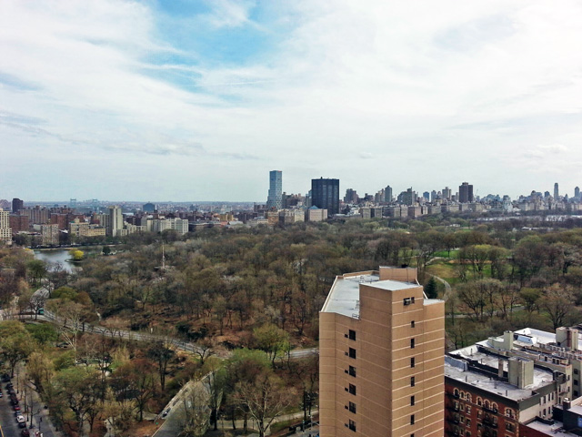 Central Park view from One Morningside