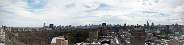 Midtown panorama from One Morningside