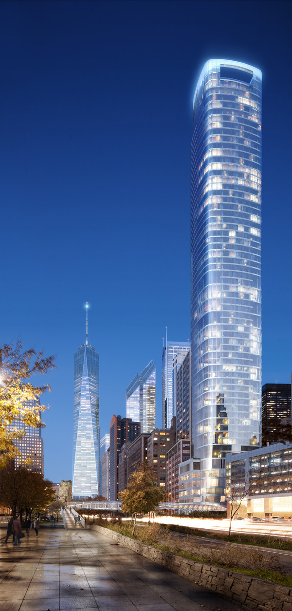50 West Street and One World Trade Center