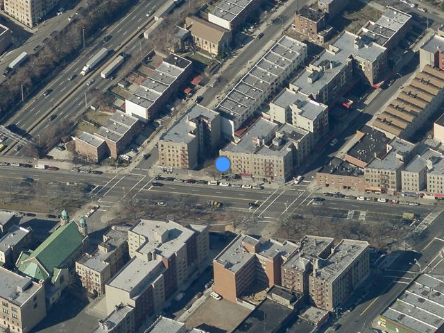 1907 Southern Boulevard, overhead shot by Bing Maps