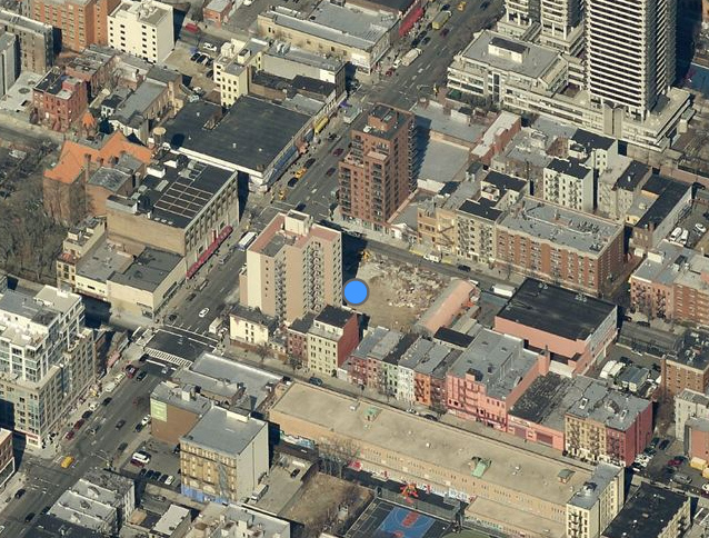 Overhead shot of 2211 Third Avenue, from Bing Maps