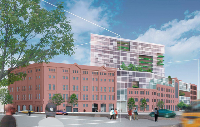 Concept rendering for future development on 128th Street, image by Janus Property/Leven Betts