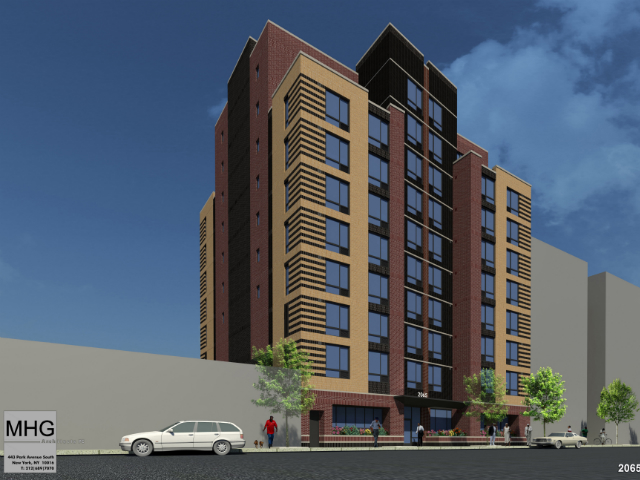2065 Walton Avenue, rendering by MHG Architects for Jericho Project