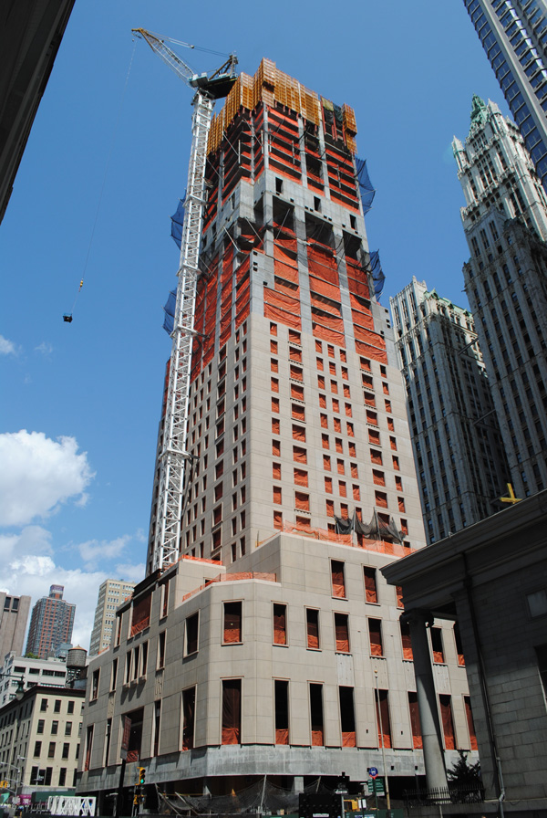 Construction Update 30 Park Place New York Yimby