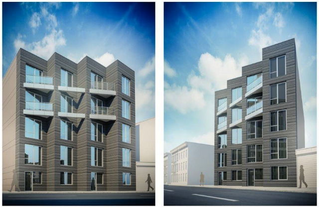 Original design of 735 & 737 Bergen Street, rendering by Issac & Stern