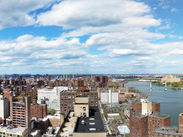 The view north, over East Harlem
