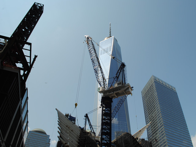 Transit Hub and One World Trade Center