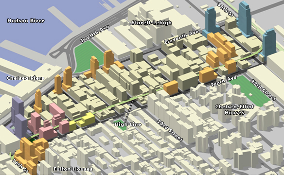 Allowed bulk in the Special West Chelsea District, where the inclusionary housing program has been most successful (image from the Department of City Planning)