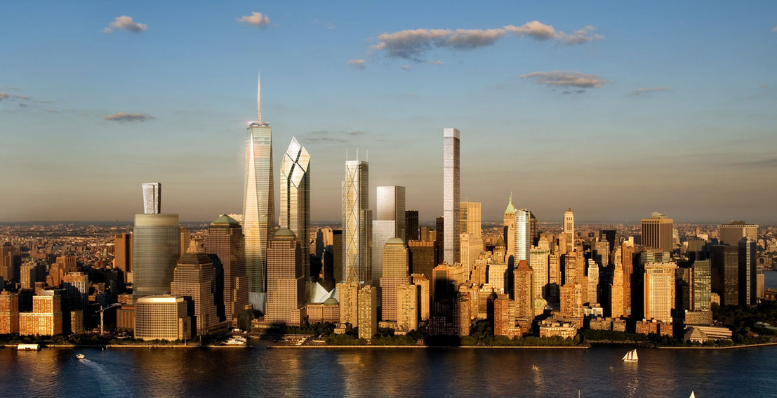 Future Look The Lower Manhattan Skyline