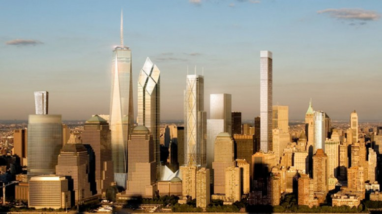 Future Lower Manhattan skyline