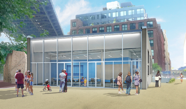 Brooklyn Bridge Park building,