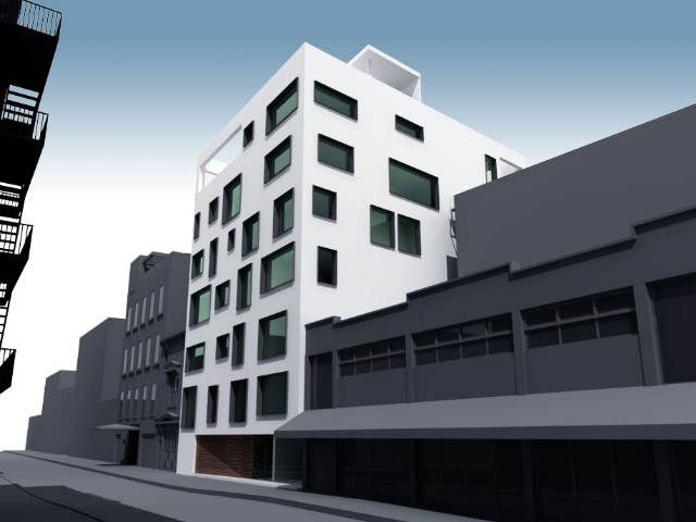 210 Pacific Street, rendering from Nava Companies