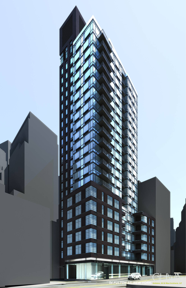 56 Fulton Street, rendering by Goldstein Hill & West Architects