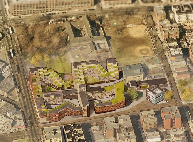 Concept design of Spofford Redevelopment, via Majora Carter Group