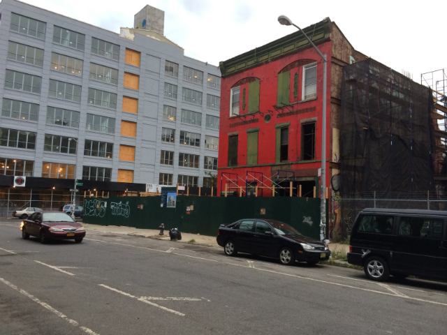 95 South 5th Street, lot and red brick building in foreground