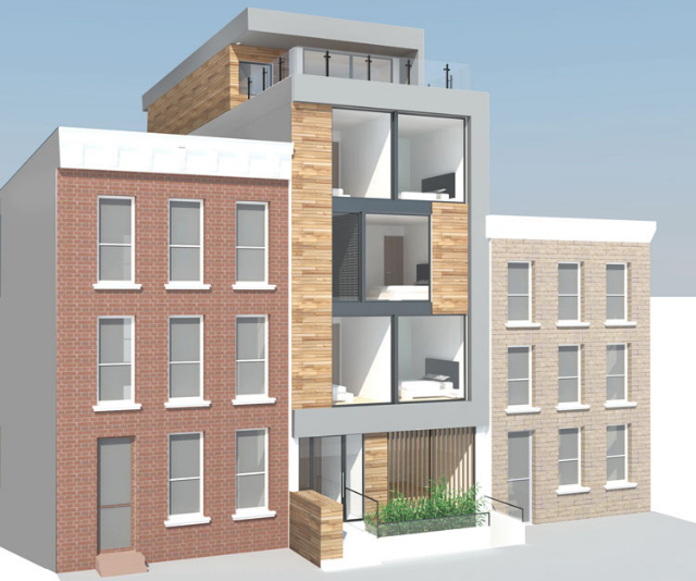 97 Douglass Street, rendering from Atelier Architecture