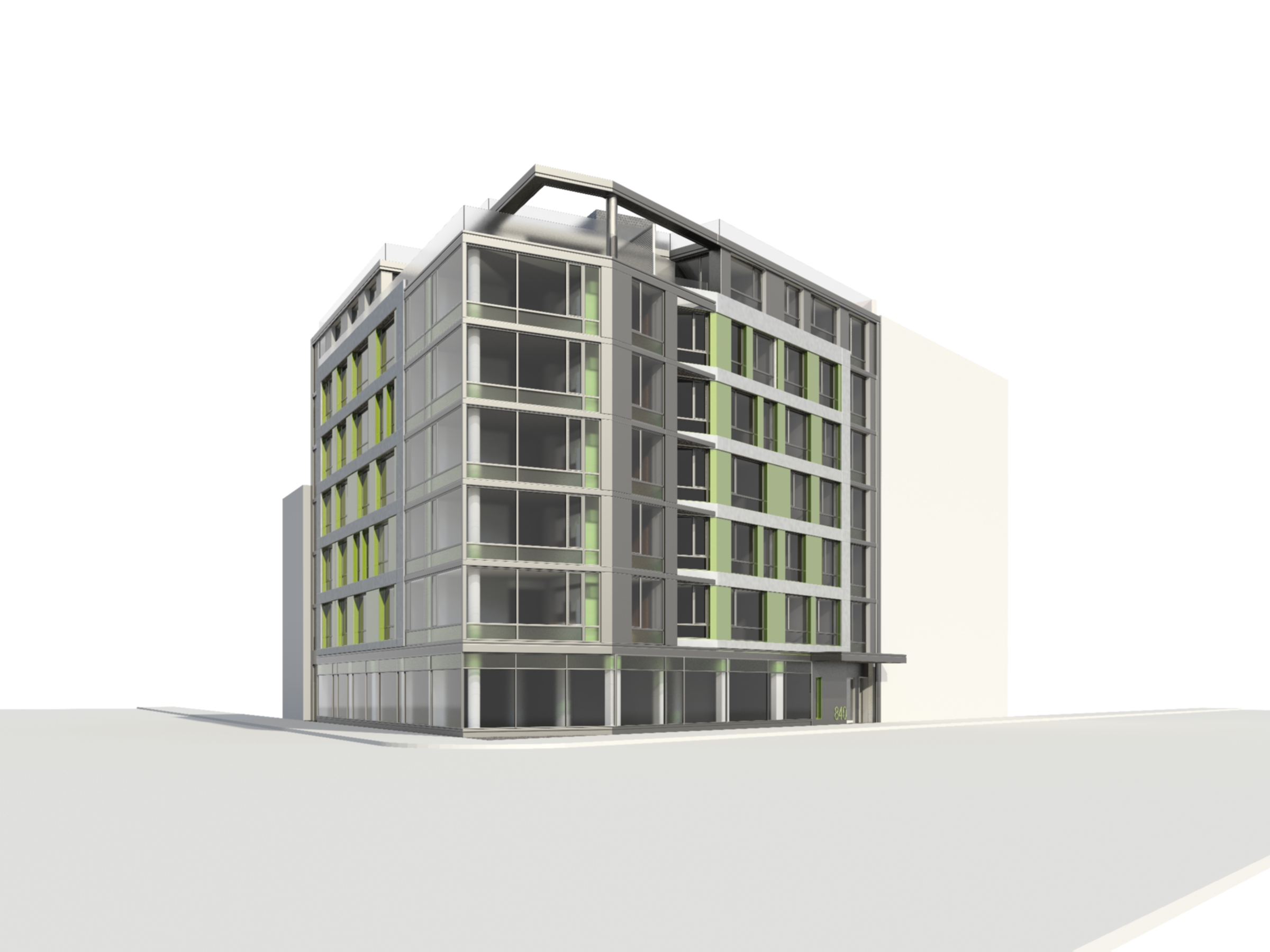 840 Fulton Street, rendering by KBA Architects