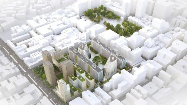 Greenwich Village NYU Expansion Plan, model via New York University