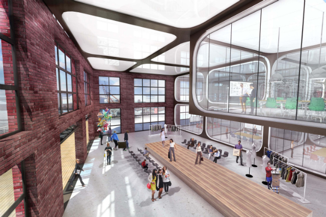 Red Hook office complex, rendering from NBBJ