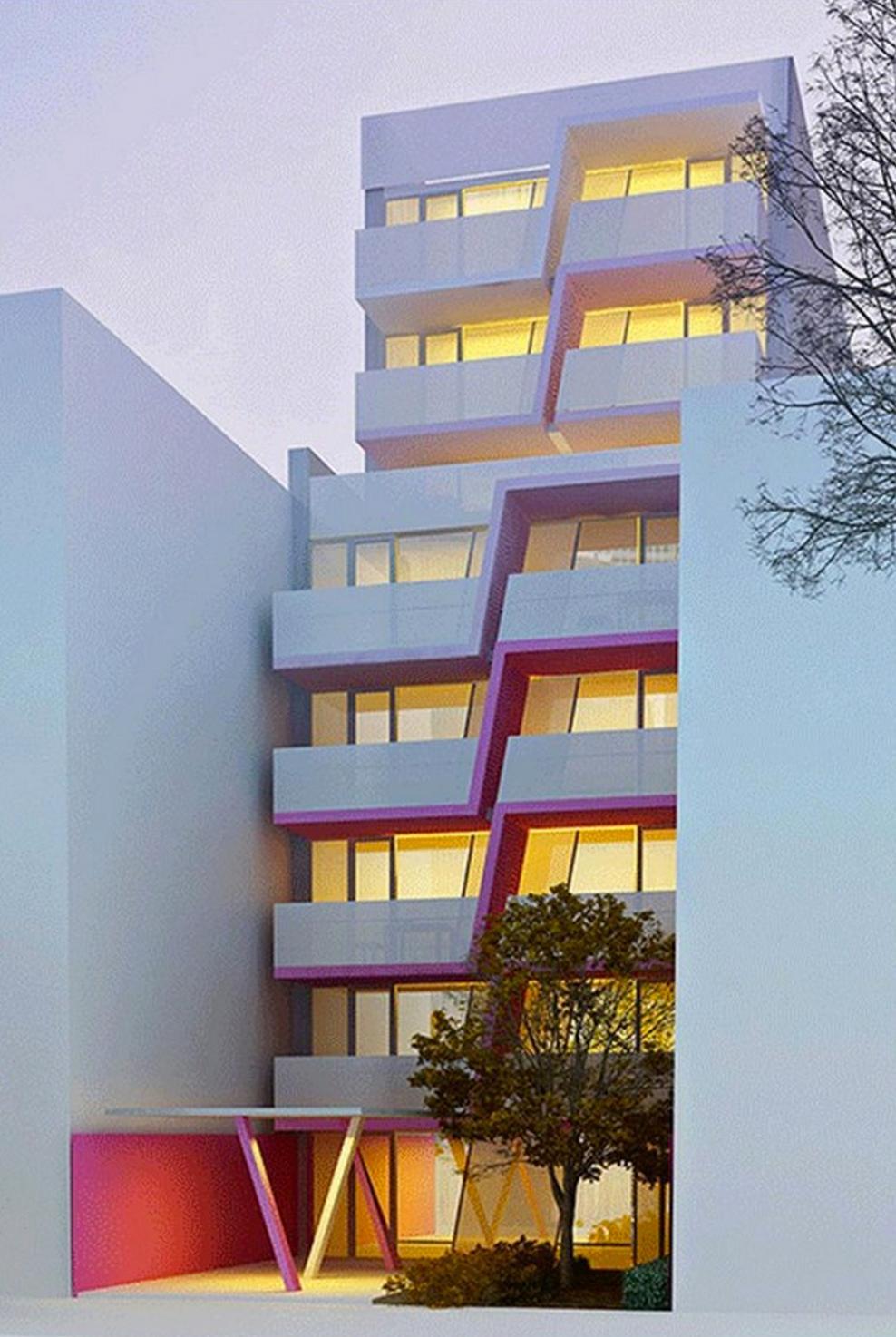 Latest design for 329 Pleasant Avenue, rendering by Karim Rashid