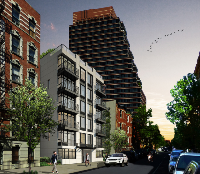 15 West 119th Street, rendering by Melamed Architect