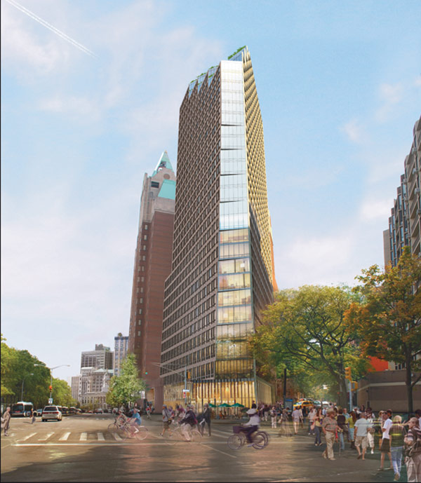 280 Cadman Plaza West, rendering by Marvel Architects