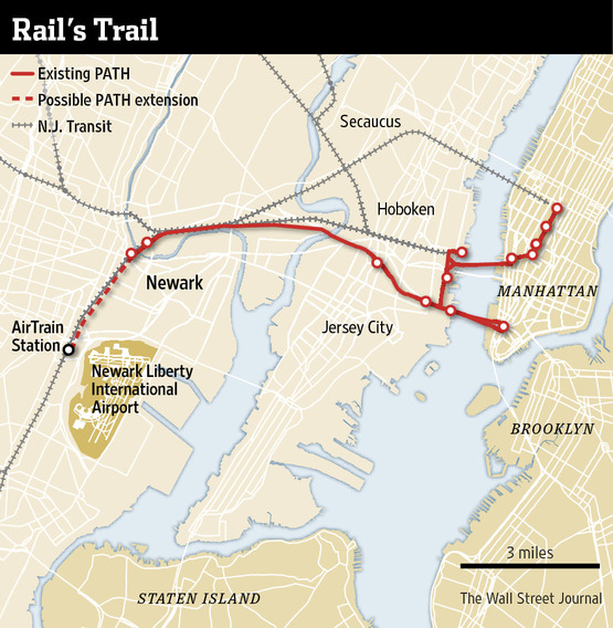Map of the duplicative PATH extension, image by the Wall Street Journal