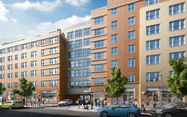 Park West Apartments at 2026 Westchester Avenue, rendering by MAP