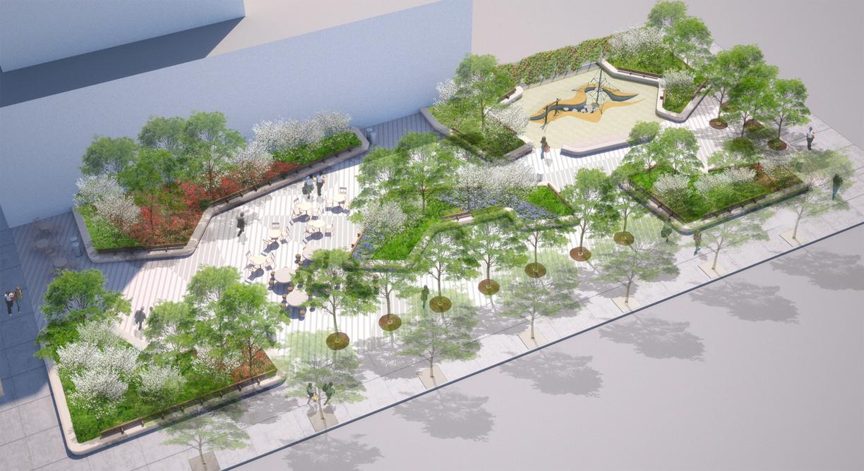 Essex Crossing Park, rendering by West 8