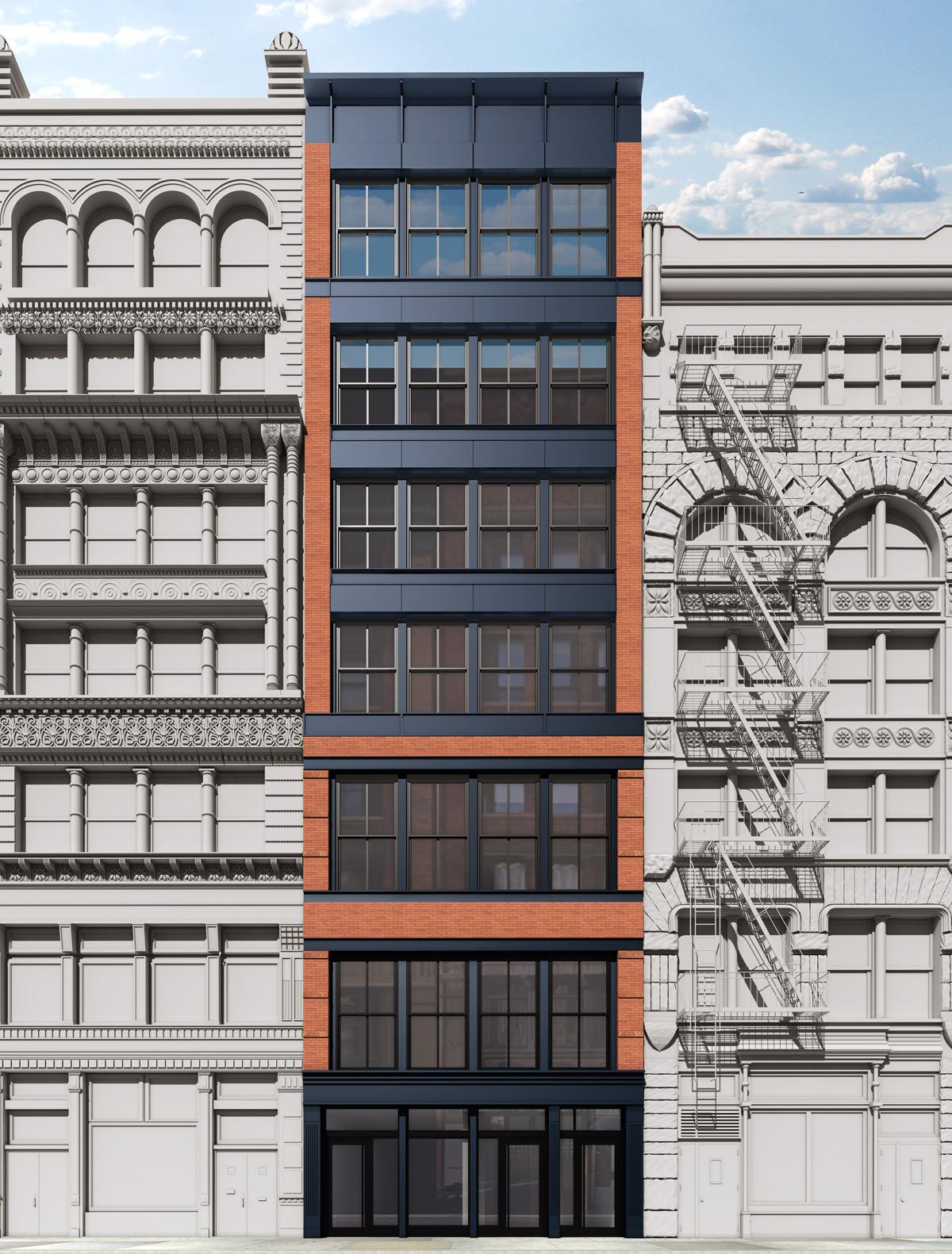 45 Great Jones, rendering by Kim Wendell Design