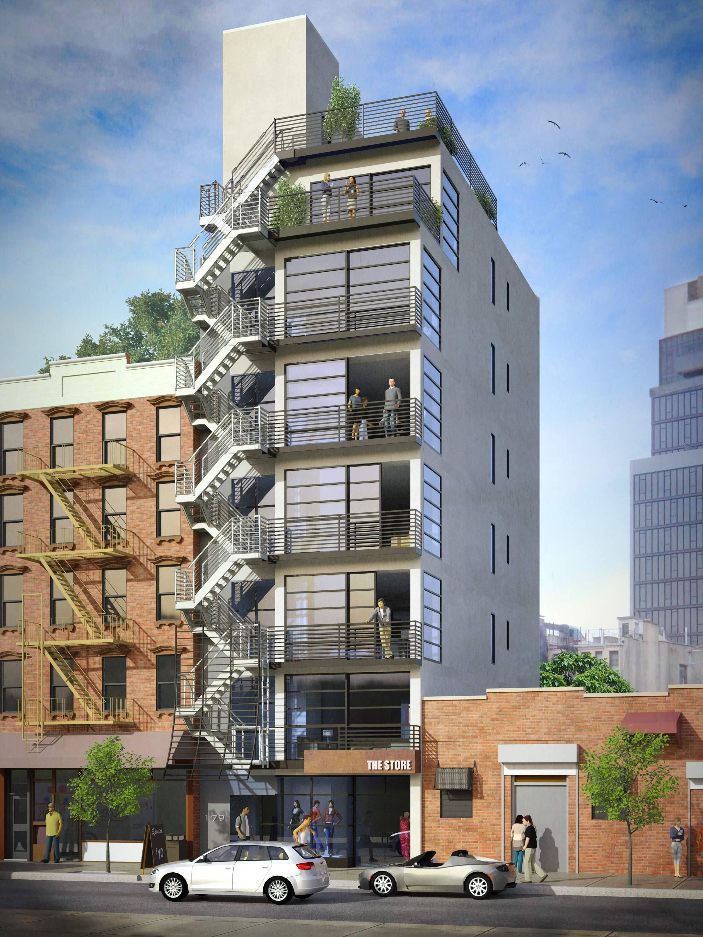 179 Ludlow Street, rendering by Kleinmann Architects