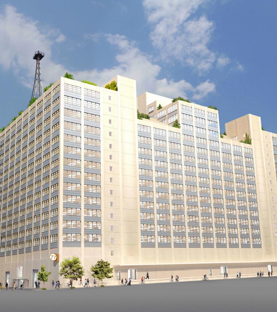 Building 77, rendering via City of New York