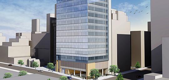 The Josie Robertson Surgery Center, rendering via Memorial Sloan Kettering Cancer Center