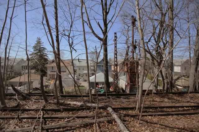The abandoned Rockaway Beach Branch, photo from AbandonedNYC