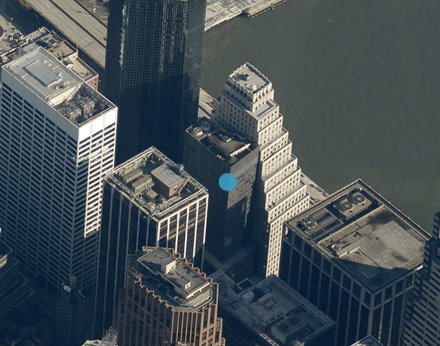 110 Wall Street, image from Bing Maps