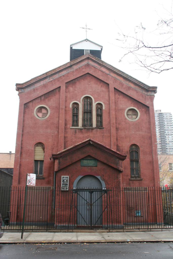 """The since-demolished church at 217 East 119th Street, <a href=""""http://www.propertyshark.com/mason/Property-Report/?propkey=30868"""">image by Tanya Ahmed for Property Shark</a>"""