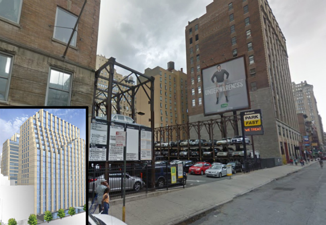 241 West 28th Street, street shot from Google Maps, inset rendering from Edison Properties
