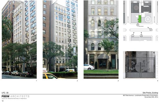 Existing building at 807 Park Avenue