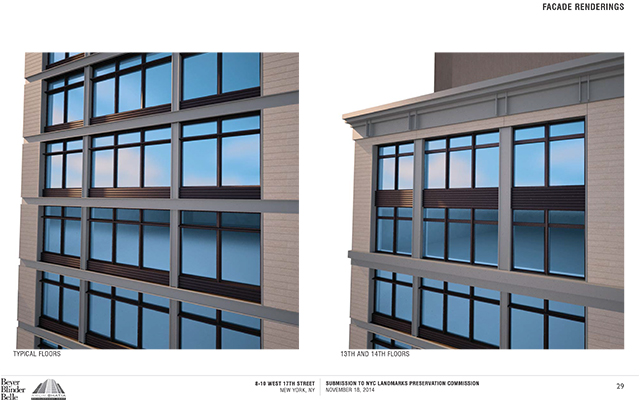 Rendering for 8-10 West 17th Street