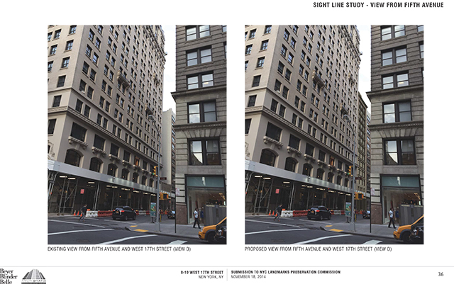 8-10 West 17th Street, now and as approved