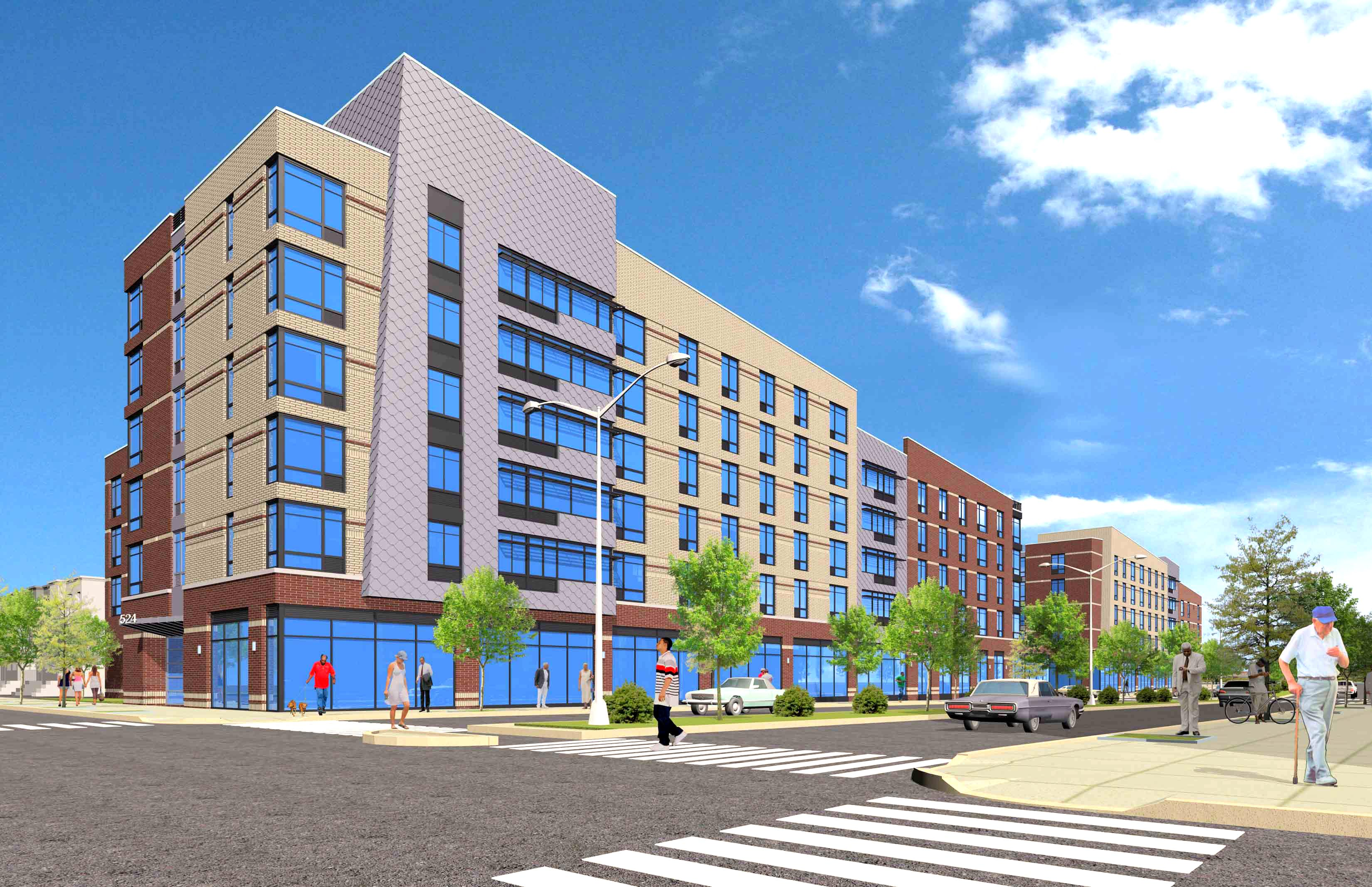 Gateway Elton Street II, rendering by MGH Architects