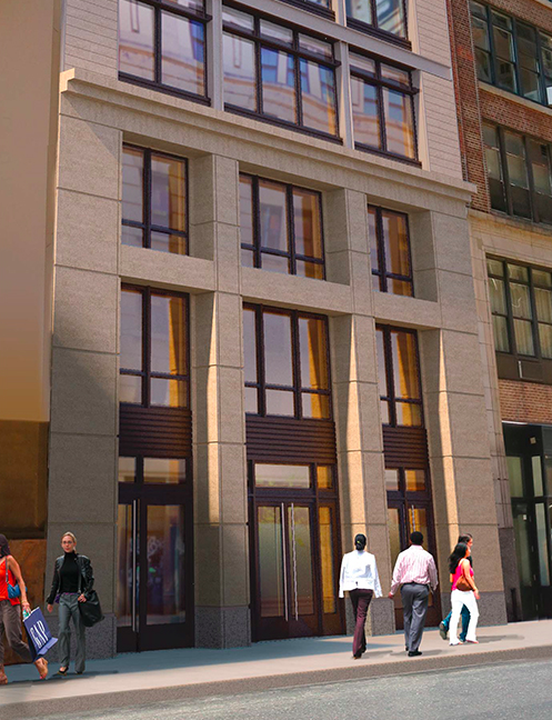 Rendering of 8-10 West 17th Street entrance