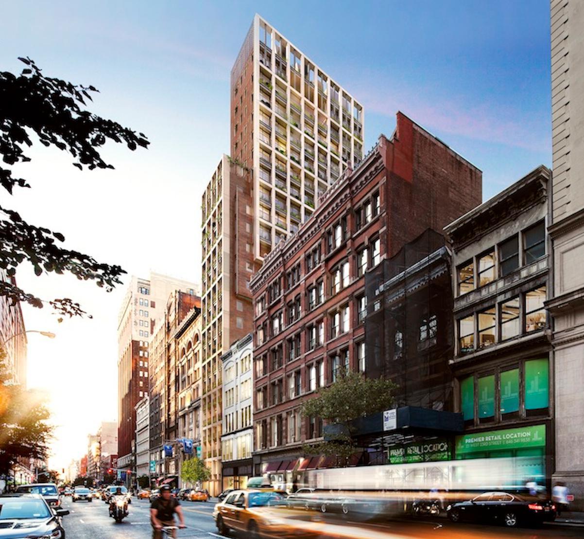 41 West 23rd Street, rendering by COOKFOX
