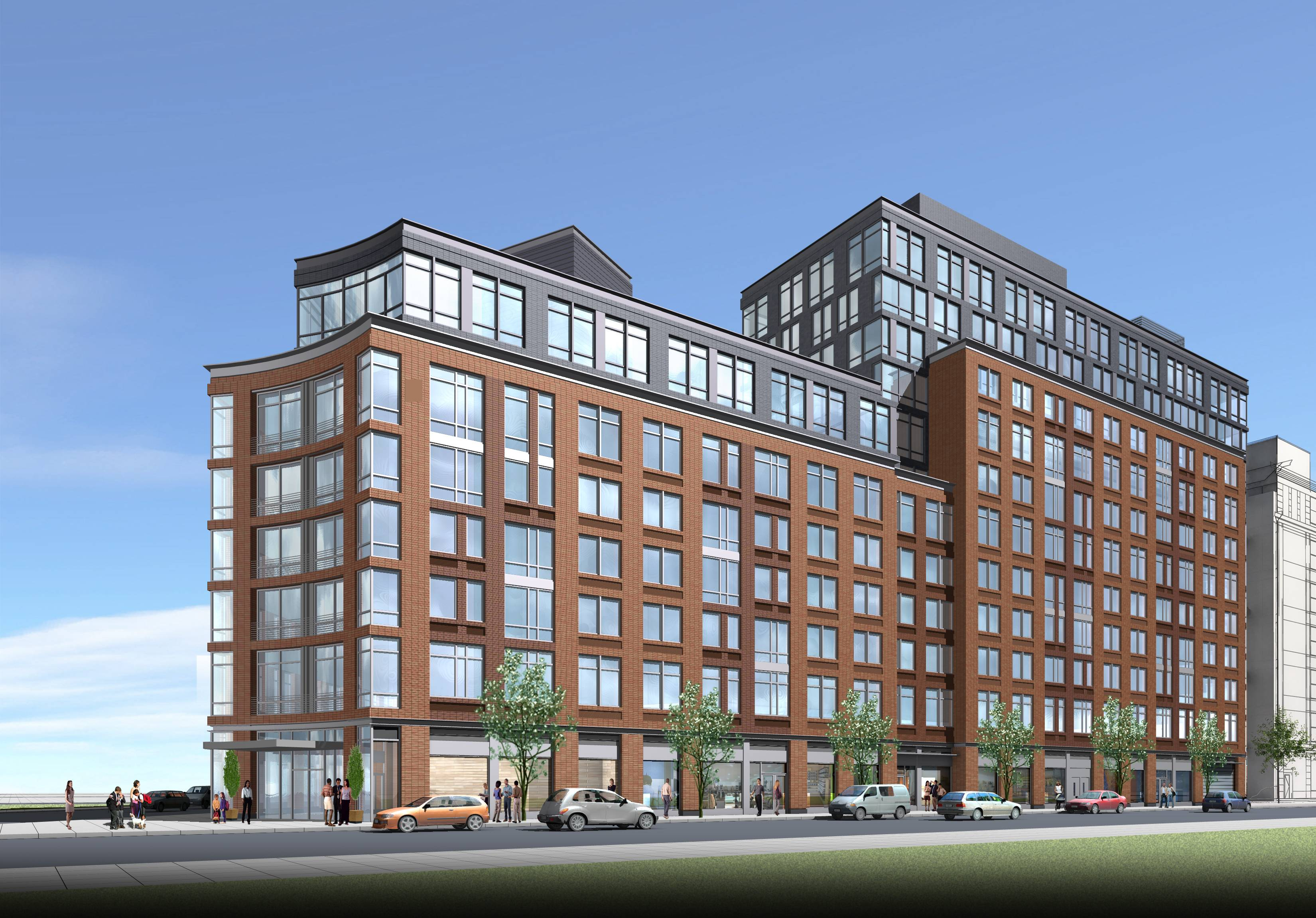 810-835 Fulton Street, rendering by Goldstein Hill & West Architects